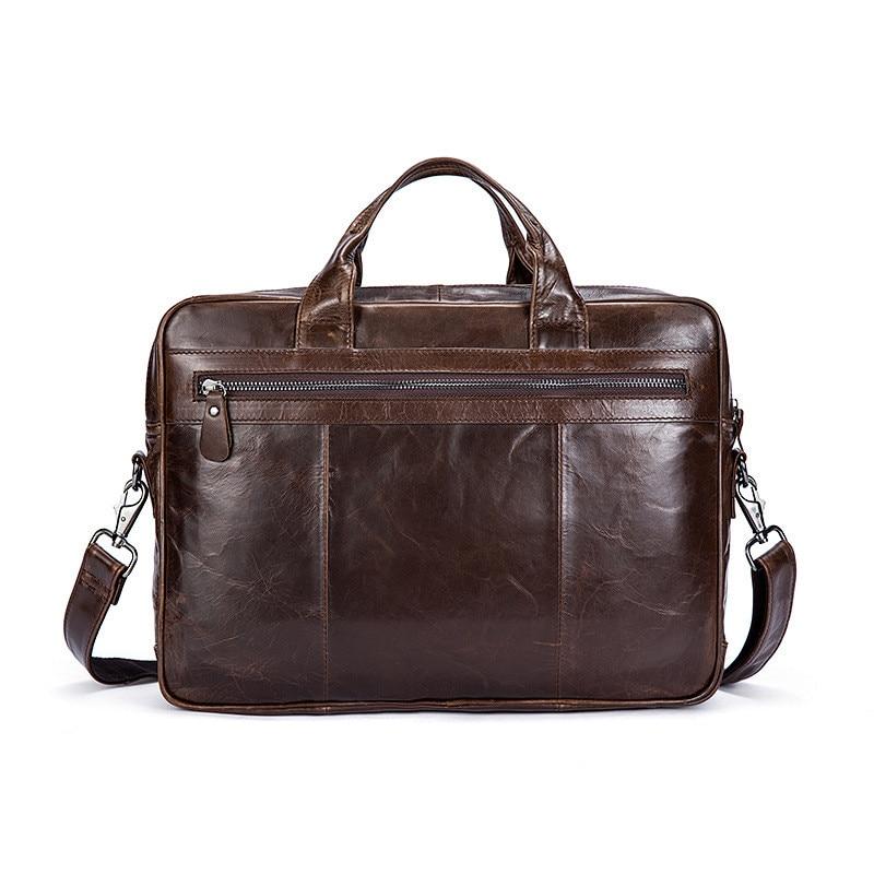 PNDME retro simple business soft genuine leather men's briefcase office cowhide large capacity laptop bag messenger bags handbag