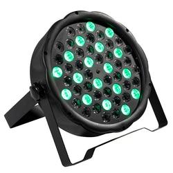 54x3 w conduziu a luz de par rgbw equipamento 8 canais dmx 512 led uplights efeito de iluminação de palco estroboscópica luz 12x3 w