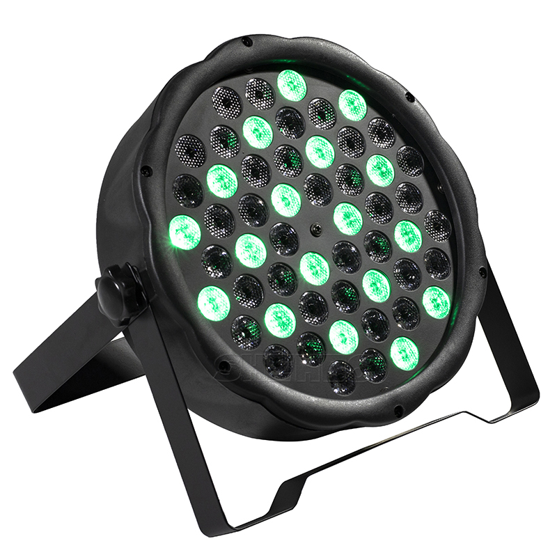 54x3W LED Par Light RGBW Disco Wash Light Equipment 8 Channels DMX 512 LED Uplights Strobe Stage Lighting Effect Light 12x3W