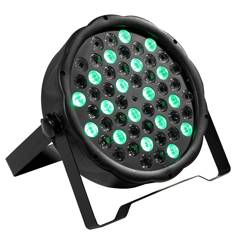 54x3W LED Par Light RGBW Disco Wash Light Equipment 8 Channels DMX 512 LED Uplights Strobe Stage Lighting Effect Light 12x3W
