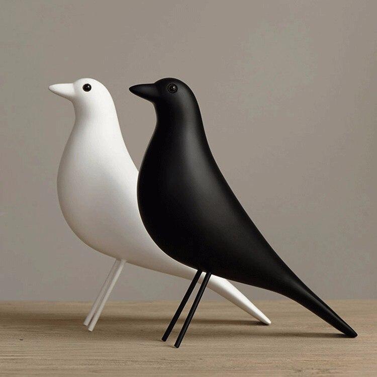 Décorations de meubles d'oiseaux de maison de résine