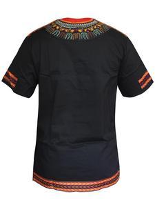 Image 2 - אמיתי Bazin שעווה אפריקאית גברים בגדי דאשיקי אופנה כותנה הדפסת חולצה איש למעלה מסורתי בגדים