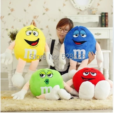 M&M Chocolate Candy Shape PP Cotton Pillows Yellow Brown Lovely Cute Cushion Kids Gift - CELINO'S Store store