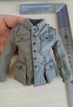 1/6 WWII Germany Army's Uniform Coat Top Model for 12'' Action Figures