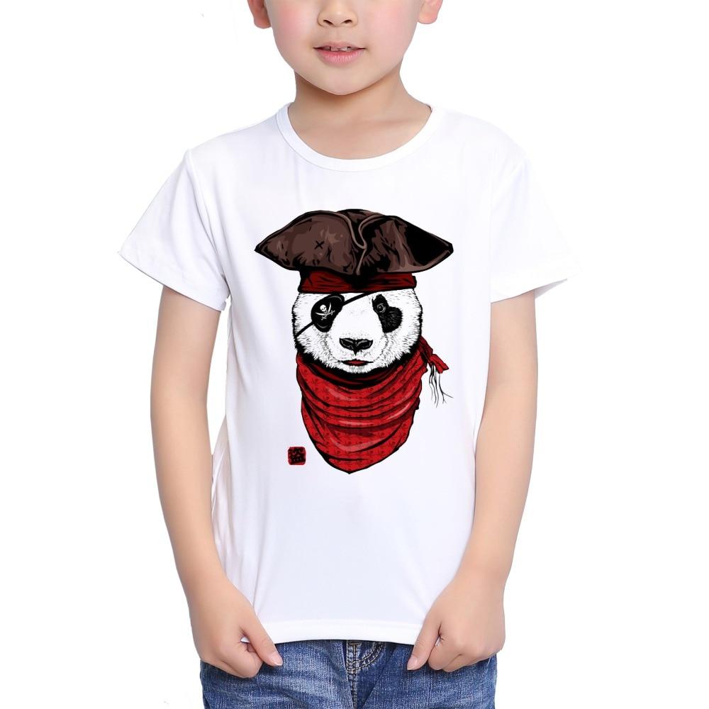Teeheart Boys/girlss Modal T-shirt Adventure Panda Pilot Printed 18m-10t Summer Children Casual Clothing Ta377 Pure Whiteness Lights & Lighting