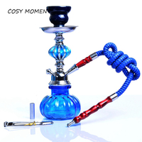 COSY MOMENT Mini Hookah Shisha Set Glass Weed Pipes Bottle Complete Set With Shisha Ceramic Bowl Hookah Tong Accessories YJ411