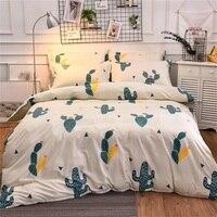 4Pcs Fashion Cartoon Lovely Cute Cactus Twin/Full/Queen/King Size Bedding Linen Quilt/Duvet/Doona Cover Set&Sheet Pillowcase