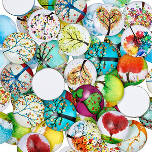 Image 2 - 12mm Tree of Life Printed Half Round Dome Glass Cabochons Mixed Color Jewelry Findings for DIY 200pcs
