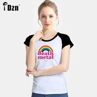 Summer Women Short Sleeve T Shirts Black Veil Brides Pierce The Veil Death Metal Music Heavy