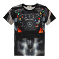 Formula One Mercedes Steering Wheel 3D Print T-shirt F1 vehicles buttons car Cotton Unisex Tee Shirts Casual Homme Loose Tops