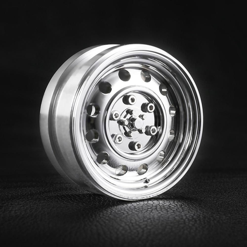 Jante de roue d'alliage d'aluminium de 1.9 pouces pour 1/9 1/10 RC D90 SCX10 CC01 D110 TRX4 TRX 4 VP RC4wd 94180 pièces de voiture de roues de chenille de roche