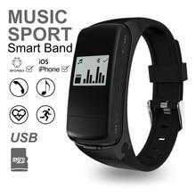 Новый F50 Bluetooth Smart Band Bluetooth гарнитура Спорт и здоровый пульсометр для IOS Android Phone Support Micro SD карты