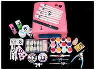 New Pro Nail Art Tools Polish Set UV Kit Nail Gel Nail Tools 36W Timer Dryer