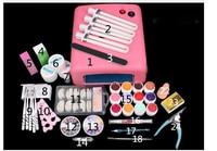 Nuova Pro Nail Art Tools polacco Set Kit nail gel UV del chiodo strumenti 36 W Timer Dryer Lampada Decorazioni Kit manicure nail kit acrilico UV