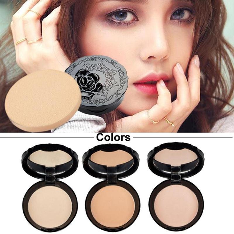 Useful Makeup Face Concealer Power Pressed Causal Concealer Contour Palette Foundation Puff Women 3Color Party Tool