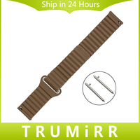 18mm 20mm 22mm Magnetic Buckle Watch Band For Seiko Men Women Genuine Leather Strap Quick Release
