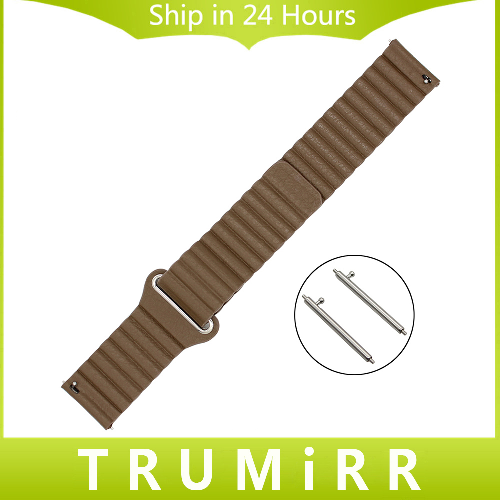 цена на 18mm 20mm 22mm Magnetic Buckle Watch Band for Seiko Men Women Genuine Leather Strap Quick Release Belt Bracelet Black Brown Red