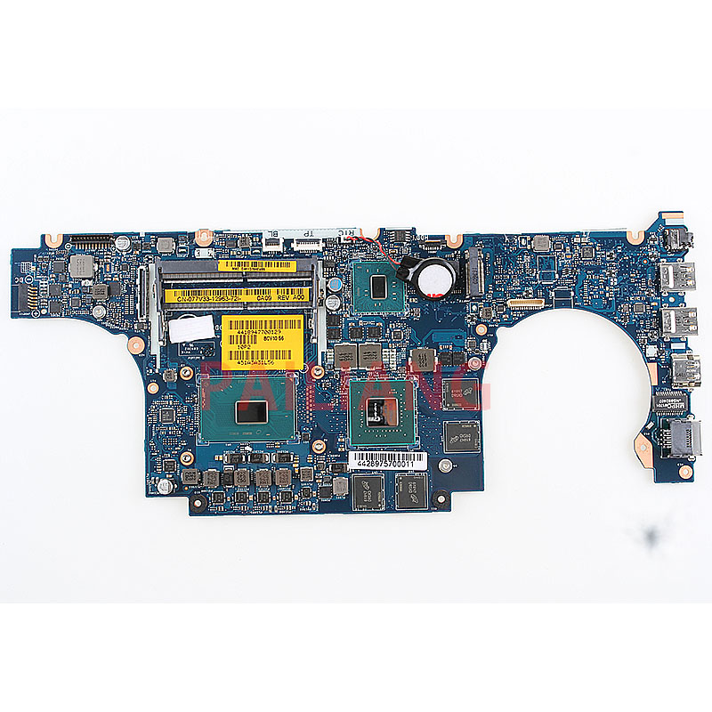 PAILIANG Laptop motherboard for DELL Inspiron 15 7000 INS Master 15-7566 PC Mainboard I7-6700HQ 077V33 BCV00 LA-D991P tesed DDR3 title=