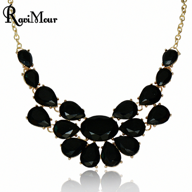 RAVIMOUR Fashion Collier Femme Jewelry Statement Collar Necklaces & Pendants Maxi Colares Femininos For Women Accessories 2017