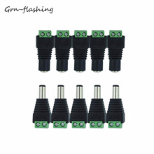 5pcs Female +5 pcs Male DC plug CCTV Camera 5.5mm x 2.1mm DC Power Cable Connector Adapter Jack for 3528/5050/5630 led strip 1pcs 5 5x2 1mm female dc power jack connector plug adapter for 5050 3528 single color led strip light cctv camera