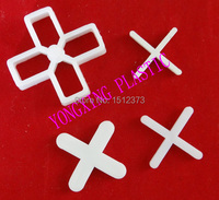 200pcs Bag 10mm Plastic Cross Tice Spacer Tracker Locating Ceramic Cross With Handle White Color Locate