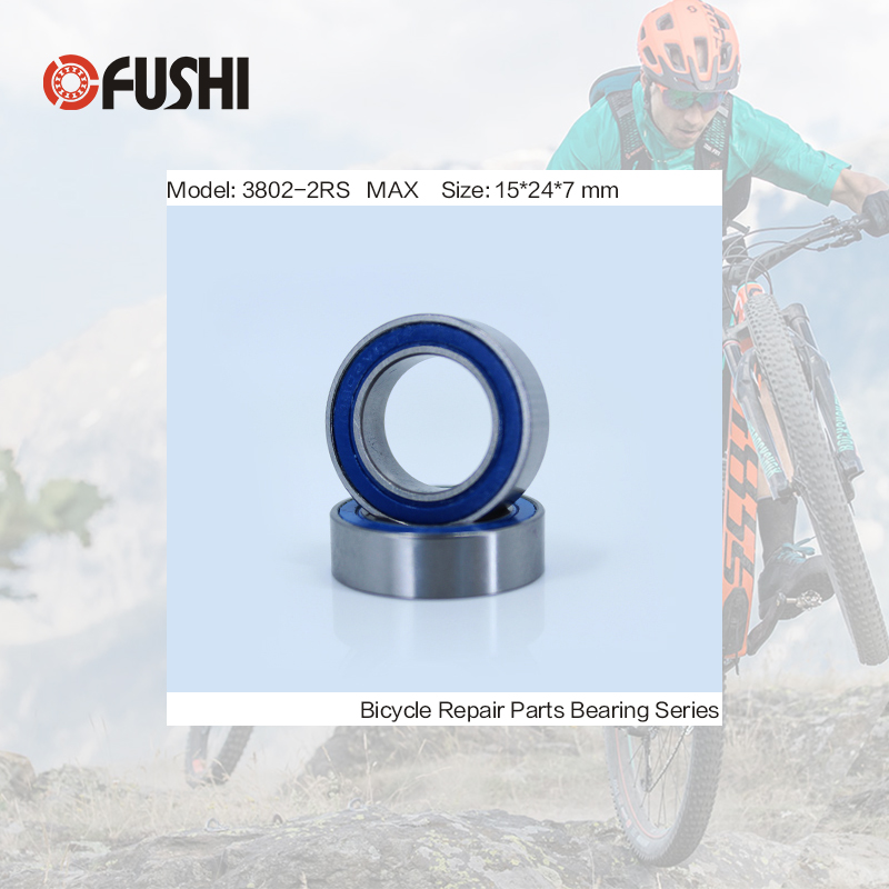 3802-2RS MAX Bearing 15*24*7mm ( 1 PC ) Double Row Full Balls Bicycle Suspension Pivot Repair Parts 3802 2RS Ball Bearings bicycle suspension pivot point bearing 6900 2rs max 10 22 6 mm full complement