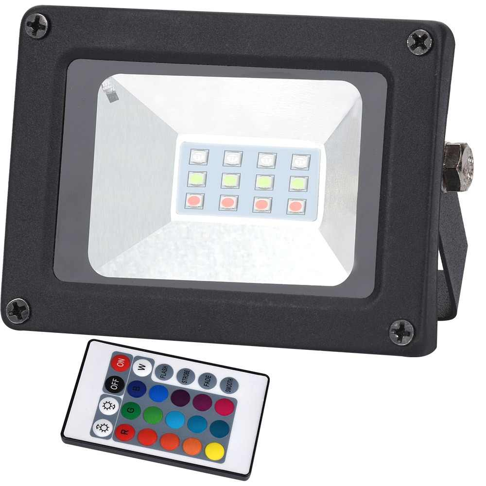 AC176-264V 10W 20W 30W 50W RGB/ Cold White / Warm white LED Flood Light Exterior Spotlight IP65 LED Outdoor projector Light
