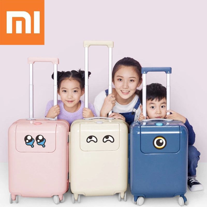 Xiaomi 17 Inch Suitcase 26L Luggage Waterproof Camping Travel Trolley Case With DIY Sticker Kawaii Makrolon Child Travel Luggage