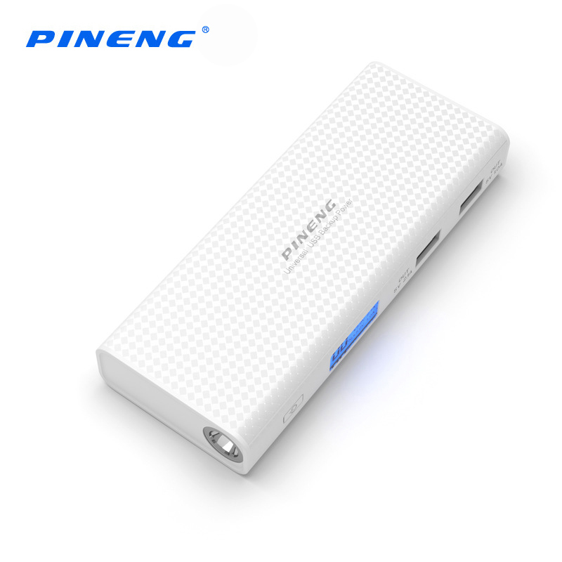 Pineng Power Bank 10000mah LCD External Battery Portable Mobile Fast Charger Dual USB Powerbank for iPhone 6 Samsung Tablet 10
