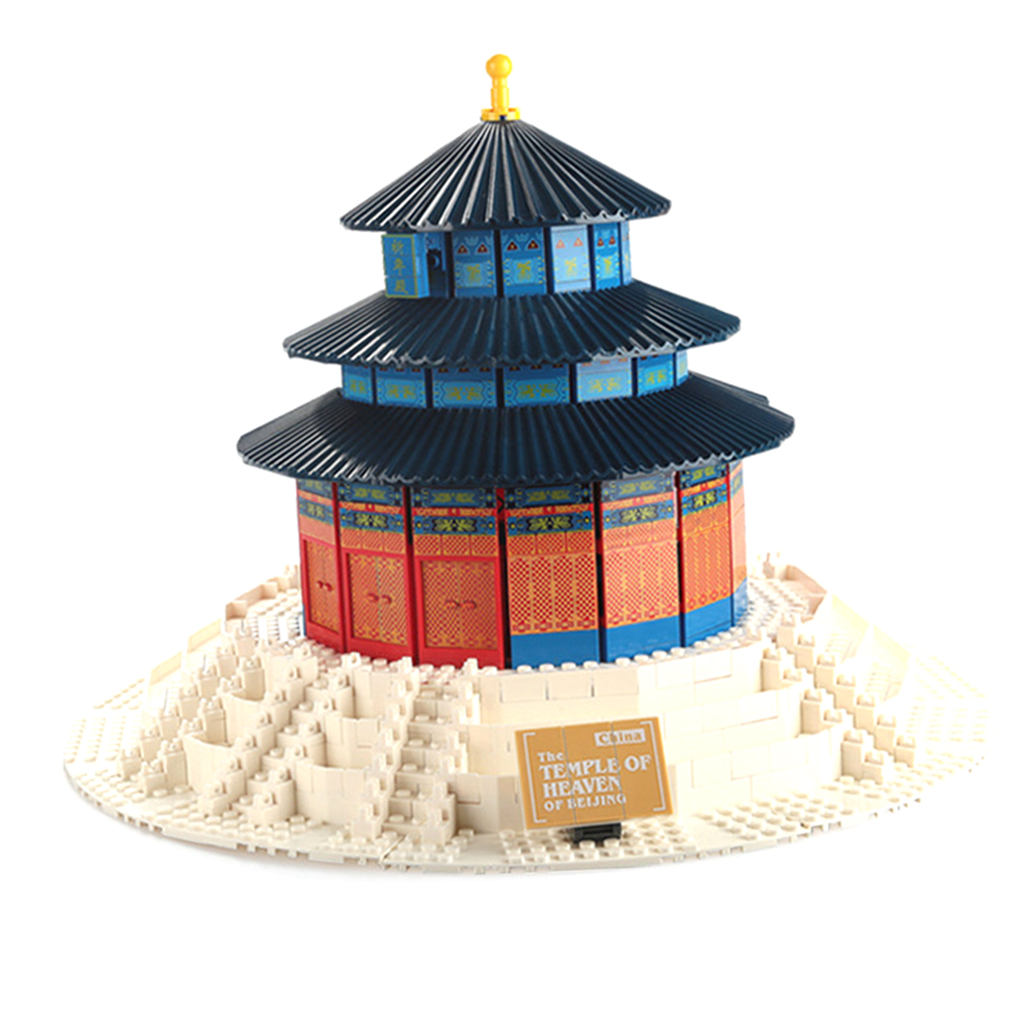 Set of 1052pcs Temple of Heaven Building Blocks Kits Intelligence Puzzle Game Kid Educational Toy ball finding game ru bun lock children puzzle toy building blocks