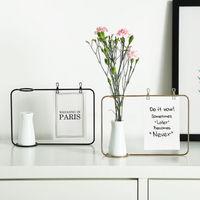 Креативная железная линия цветочный горшок подставка для вазы открытка зажим держатель домашний декор Новинка