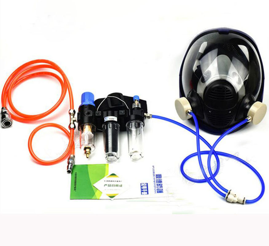 Hot Three-In-One Function Supplied Air Fed Industry Respirator System 6800 Full Face Gas Mask Respirator