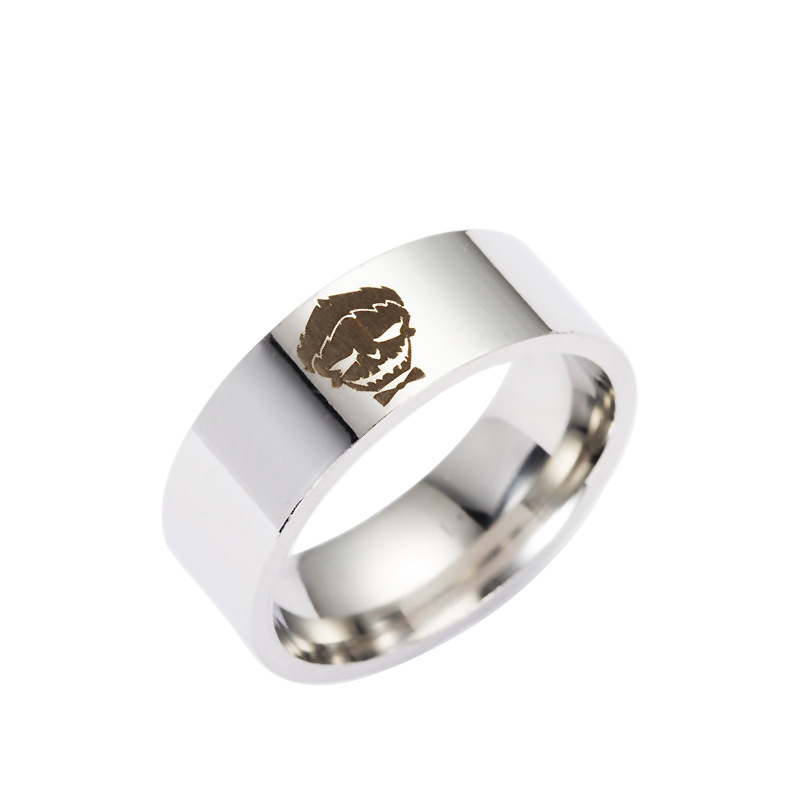 1PC squad clown female X contingent titanium steel ring men and women Rings Dropshipping yongheng sl 01 men s 2 in 1 type rotatable titanium steel ring silver