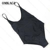 OMKAGI Brand Sexy New Design Black Monokini Swimsuits Women One Piece Swimsuits Swimwear Women Bathing Suits