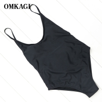 OMKAGI Brand Sexy New Design Black Monokini Swimsuits Women One Piece Swimsuits Swimwear Women Bathing Suits