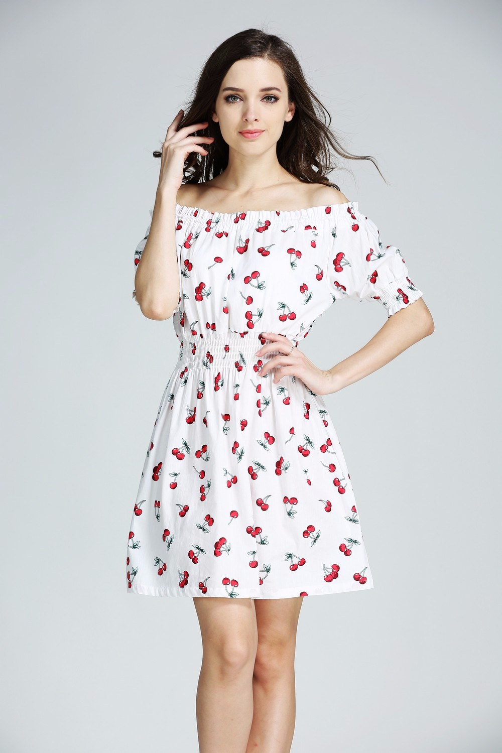 Pure Cotton Off Shoulder Sundress - Fashion Trendy Shop