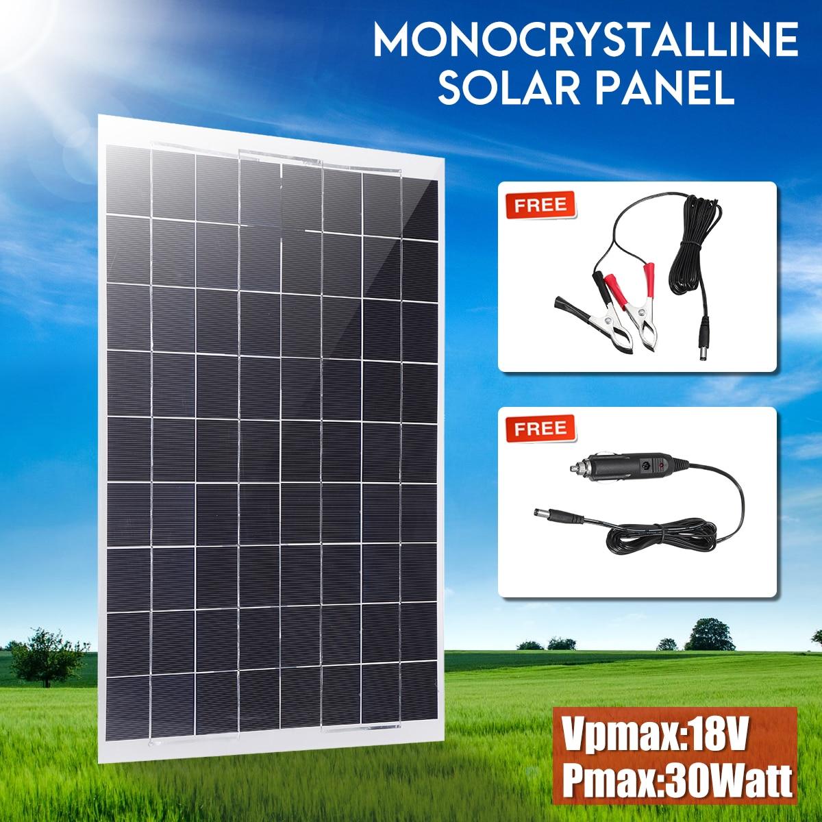 цена на KINCO Flexible Solar Panel Plate 12V 30W Solar Charger For Car Battery 12V Sunpower Monocrystalline Silicon Cells Module Kit