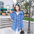 Latest Fashion Women Winter Down jacket Thickening Hooded Super Warm Coats Big yards Dot Slim Medium Long Coat Women G1685