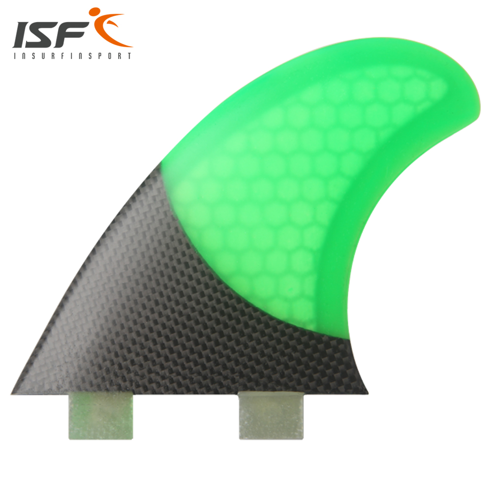 Insurfin Surfboard Fins Quad fin Set (4) Piece FCS Base Fiberglass Carbon Honeycomb Green Select Color SQ Surf Fin hot sale future fin honeycomb surf quad fins in surfing surfboard quilhas free shipping
