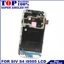 With Frame Bezel LCDs For Samsung Galaxy SIV S4 i9505 AMOLED Phone LCD Display Touch Digitizer Screen Assembly Replacement(China)