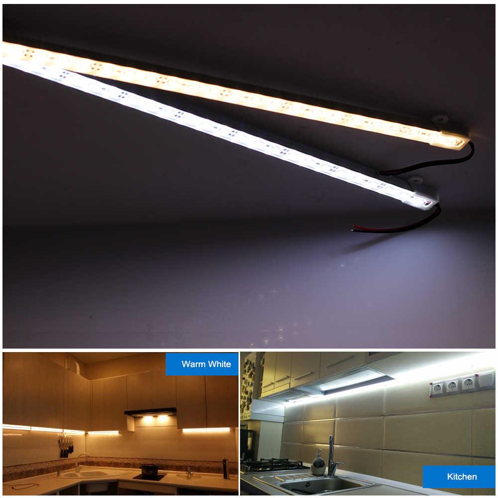 Светодиодный светильник DC 12 В 50 см высокая яркость 5630 Жесткая светодиодная лента IP68 водонепроницаемый уличный светодиодный светильник 5 шт./лот