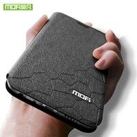 Meizu M5 Cas 5.2 pouce silicone couverture de luxe flip en cuir d'origine MOFI Meizu M5 note Cas 360 antichoc transparent TPU fundas