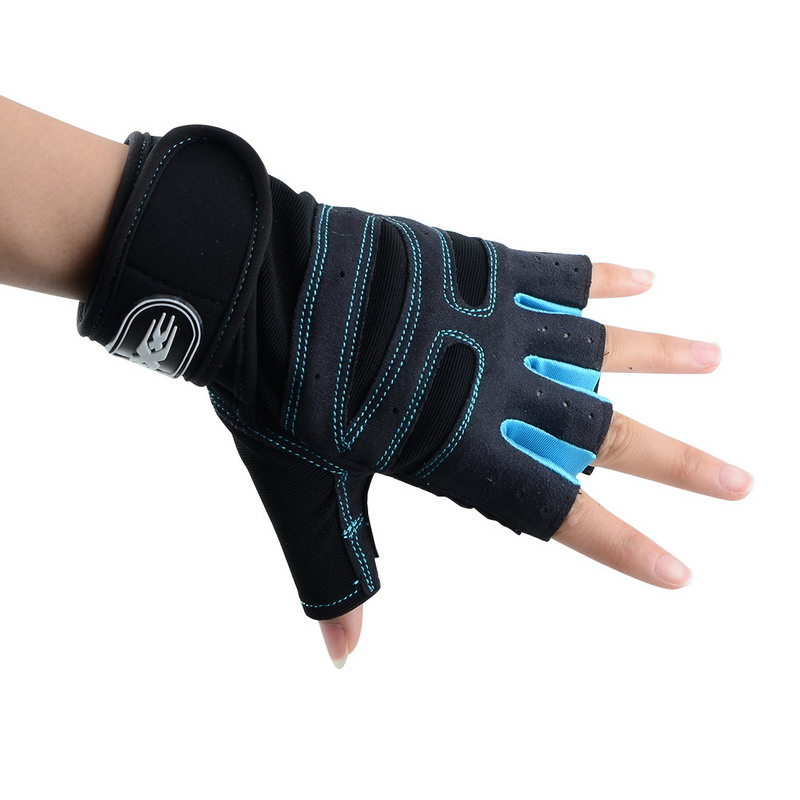 Men Women Half Finger Fitness Gloves Weight Lifting Gloves Protect Wrist
