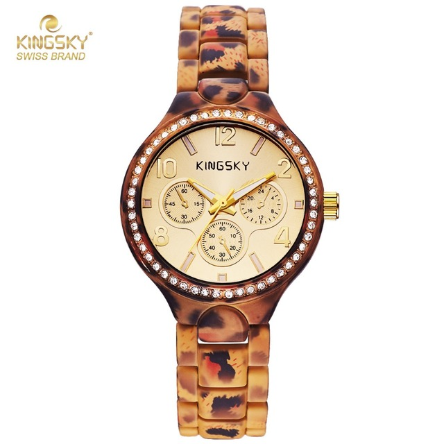 Kingsky Brand Quartz Fashion Designed Leopard Print Wristwatch For The Cool Lady and Even Cooler Young Lady