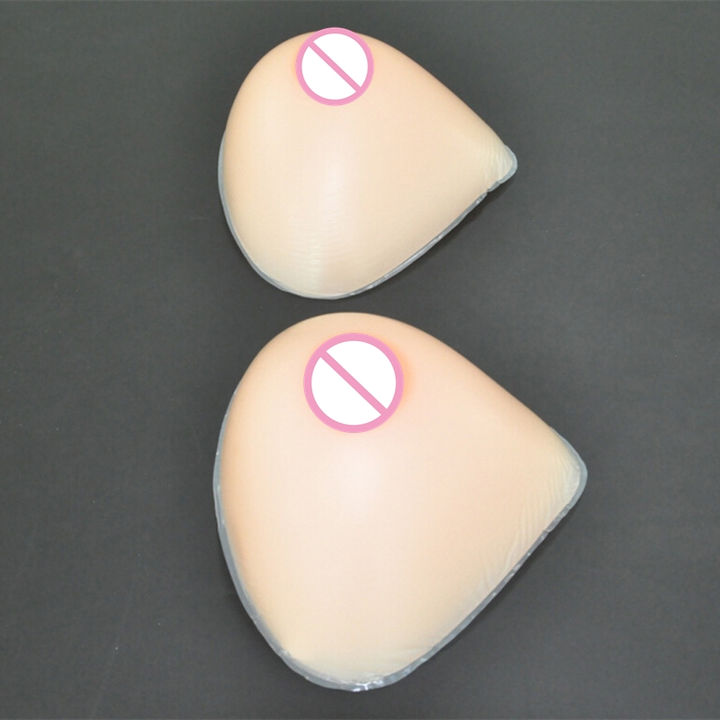 ФОТО 1000g/pair XL Size Silicone Breast Forms Realistic Shemale False Breast Artificial Breasts for Enhancer Transvestite Crossdress