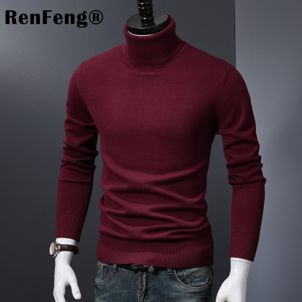 Winter Thick Warm Cashmere Sweater Men Turtleneck Mens Sweaters 2018 Slim Fit Pullover Men Classic Wool Knitwear Pull Homme (6)