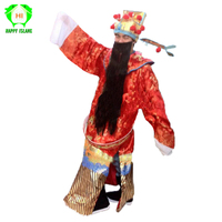 Chinese New Year God of Fortune Mascot Costumes Adult Mascot God Of Wealth Cosplay Costume for Men Women with Gold Money Bowl