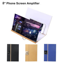 New 3D Phone Screen Magnifier Stereoscopic Amplifying 8 Inch Desktop Wood Bracket Support Smartphone Voiture Popsocket(China)
