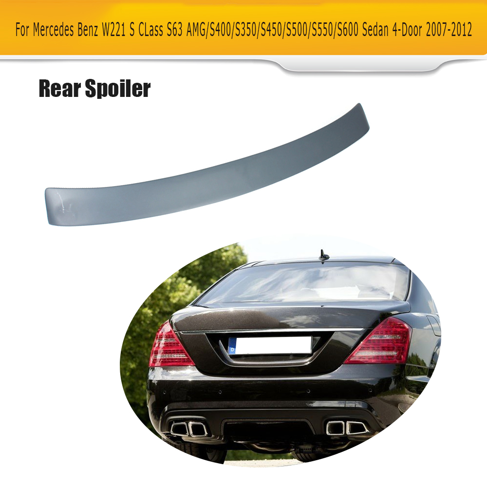 S CLass Grey ABS Rear Roof Spoiler Window Wing for Mercedes Benz W221 Sedan 4 Door 07-12 S63 AMG S350 S400 S450 S500 S550 S600 auto fuel filter 163 477 0201 163 477 0701 for mercedes benz