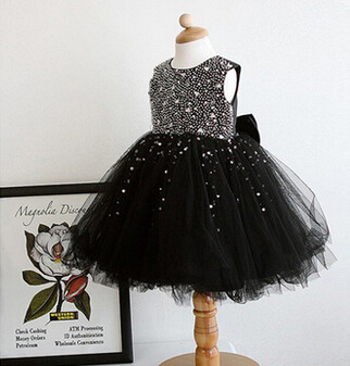 Aliexpress.com : Buy Fashion Girl Black Sequins Tutu Baby Party ...